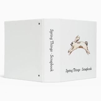 Spring Things · White & Brown Bunny 3 Ring Binder