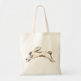 Spring Things · White & Brown Bunny Tote Bag