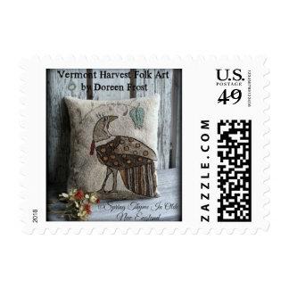 Spring Thyme In Olde New England Folk Art Stamp