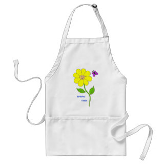 spring time adult apron