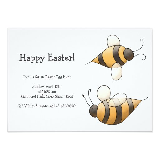 Spring Time · Bees 5x7 Paper Invitation Card