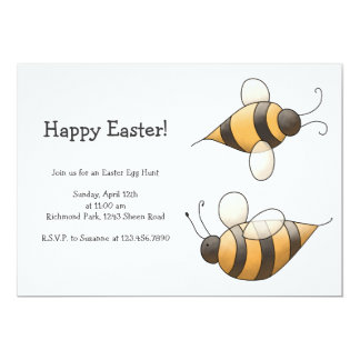 Spring Time · Bees Personalized Invitation