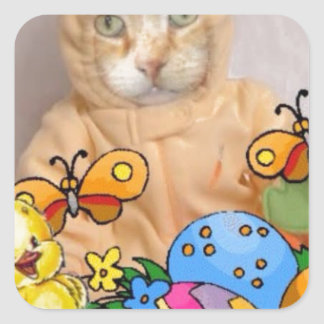 Spring Time Claude Square Sticker