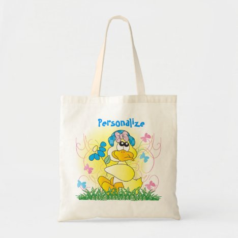 Spring Time Easter Duck Tote Bag