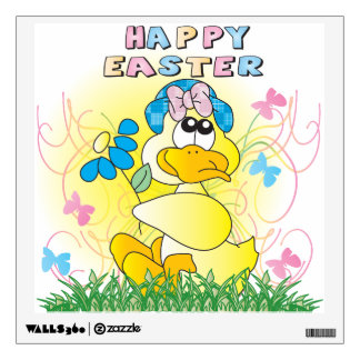 Spring Time Easter Duck Wall Sticker