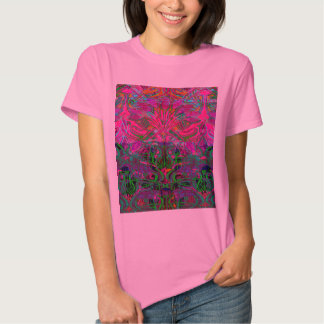 Spring time flowers in Orange, Hot Pink Lime Green Tshirts