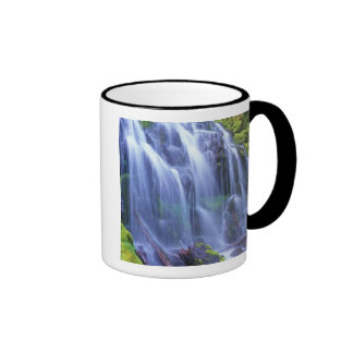 Spring-time fresh water flowing over moss coffee mug