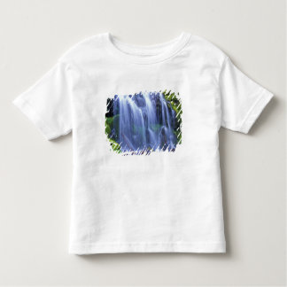 Spring-time fresh water flowing over moss t shirt