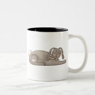 Spring Time · Grey Bunny Two-Tone Coffee Mug