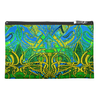 Spring time in the flower garden travel accessory bags