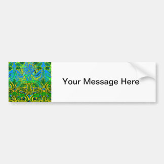 Spring time in the flower garden bumper stickers