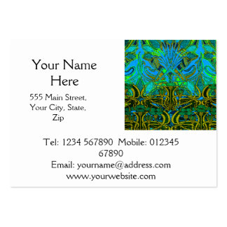 Spring time in the flower garden pattern large business card