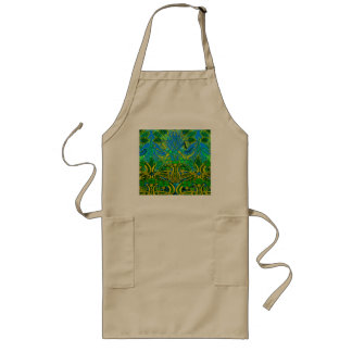 Spring time in the flower garden pattern long apron