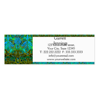 Spring time in the flower garden pattern mini business card