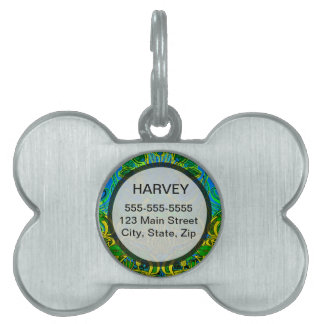 Spring time in the flower garden pattern pet tag