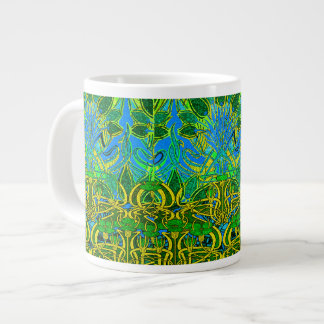 Spring time in the flower garden pattern extra large mug