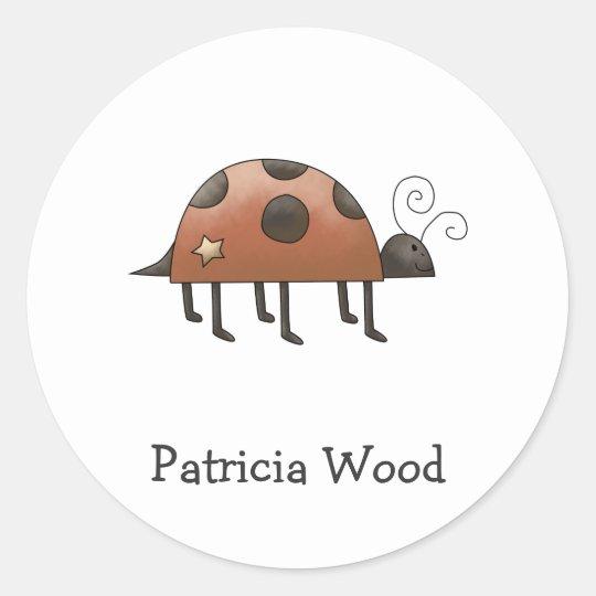 Spring Time · Ladybug Classic Round Sticker