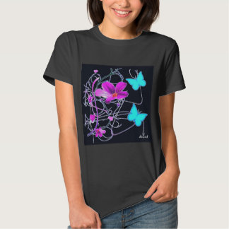 Spring Time on Black T-Shirt