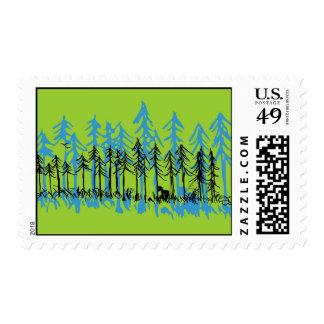 Spring Time Pine Postage