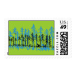 Spring Time Pine Postage Stamps