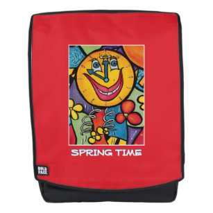 654e2e8f274 Spring Time - Red -Time Pieces Backpack