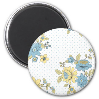 Spring Time Rose 2 Inch Round Magnet