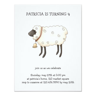 Spring Time · Sheep Personalized Invitations
