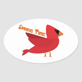 Spring Time Oval Sticker