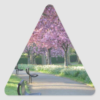 Spring time ! triangle sticker