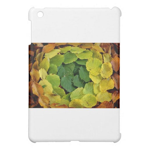 Spring to Fall Circle of Leaves Cover For The iPad Mini
