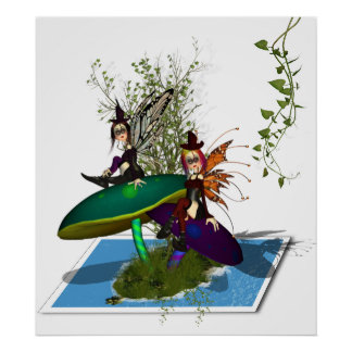 Spring To Life - Gothic Fairy's Sprining Out Poster
