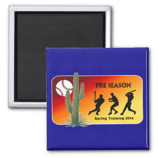 Spring Training Baseball 2014 Cactus 2 Inch Square Magnet
