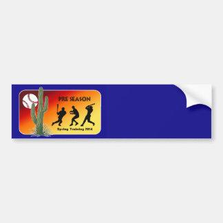 Spring Training Baseball 2014 Cactus Bumper Sticker