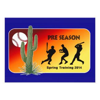 Spring Training Baseball 2014 Cactus Personalized Invite