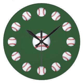 Spring Training Time New Baseball Season Fans Large Clock