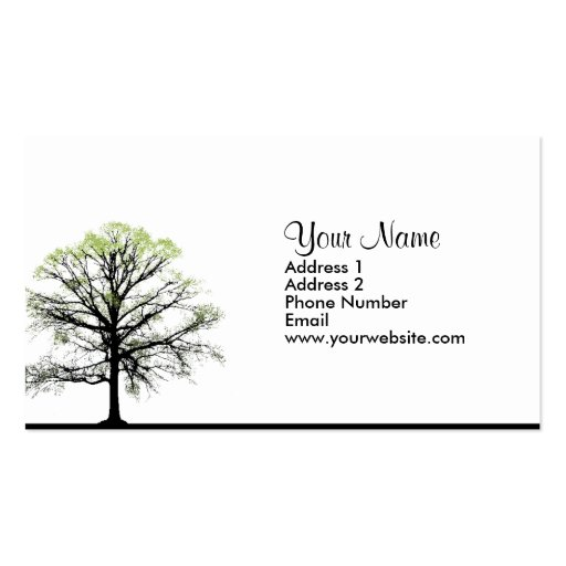 Spring Tree 2 Business Cards