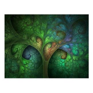 """Spring Tree"" Abstract Organic Fractal Postcard"