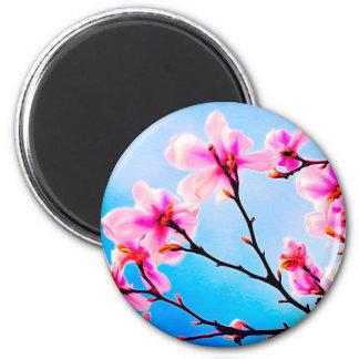 Spring Tree Art 2 Inch Round Magnet
