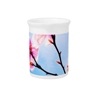 Spring Tree Art Pitcher