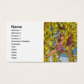 Spring Tree Blossom Fairy Business Card