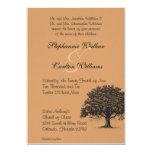 "Spring Tree Brown/Black Wedding Invitation 5"" X 7"" Invitation Card"