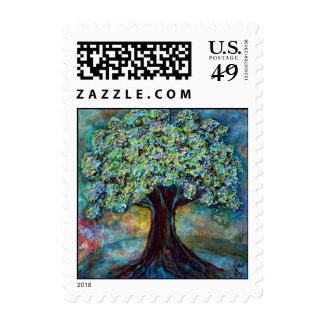 Spring Tree Fine Art Postage Stamp