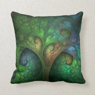 """Spring Tree"" Fractal Pillow"