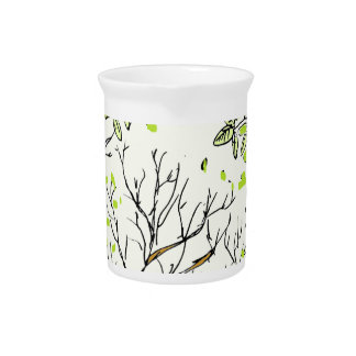 Spring tree image beverage pitcher