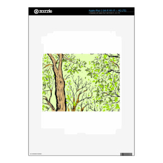 Spring tree image decal for iPad 3