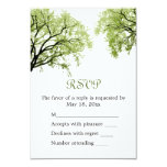 "Spring Trees 2 - RSVP Card 3.5"" X 5"" Invitation Card"