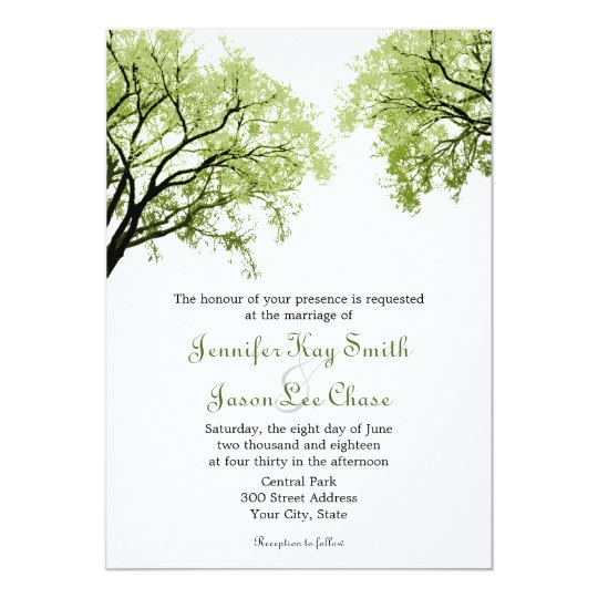 Spring Trees 2 Wedding Invitations Zazzle Com