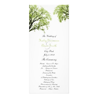 Spring Trees 2 Wedding Program