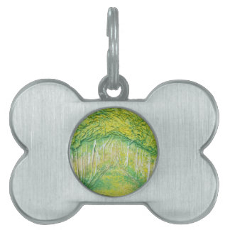 Spring Trees Pet Tag