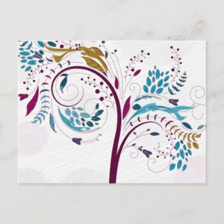 Spring Trees postcard